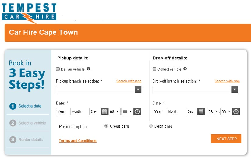 Tempest Booking Online Cape Town Airport Car Hire