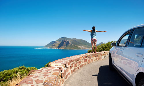 Car hire Cape Town overlooking Hout Bay
