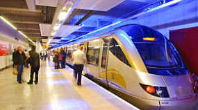Gautrain Hi-speed train at Johannesburg Airport car hire