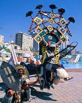 Durban Zulu Rickshaw's are but a short distance from Durban Airport Car Hire