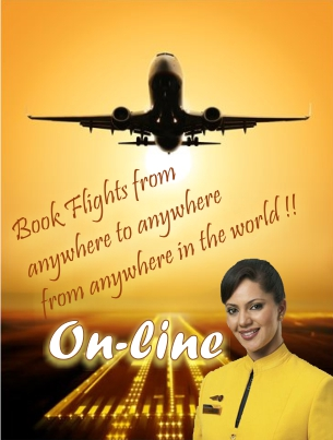 Flight bookings on line