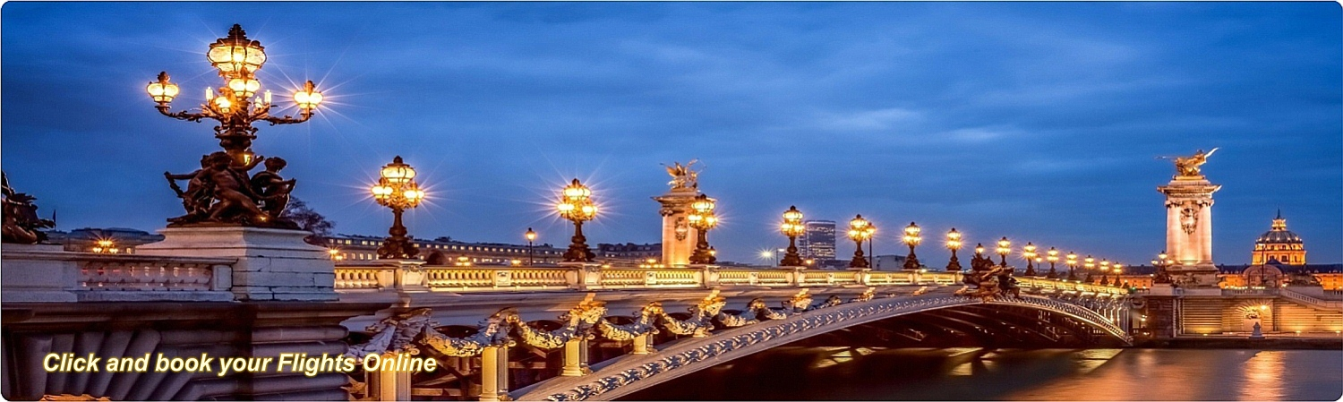 Flights to Paris - Alexandre Bridge